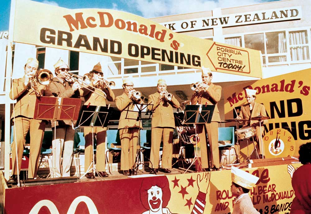 The 1976 opening of New Zealand's first McDonald's in Porirua.