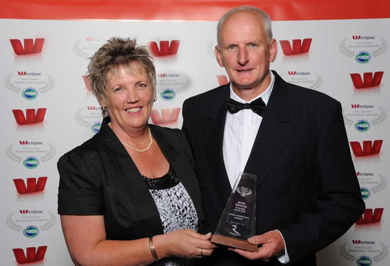 Ron Hammerton and his wife are the 2011 Home Services Franchisees of the Year