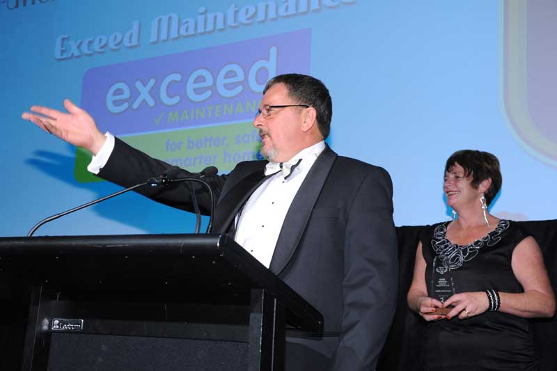 David and Karen Dovey of Exceed Maintenance give the credit for their Home Services Franchise System of the Year title to their support staff and franchisees