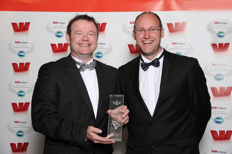 Joe Hesmondhalgh and Rob Howard of GroutPro - winners of the Franchise Export award