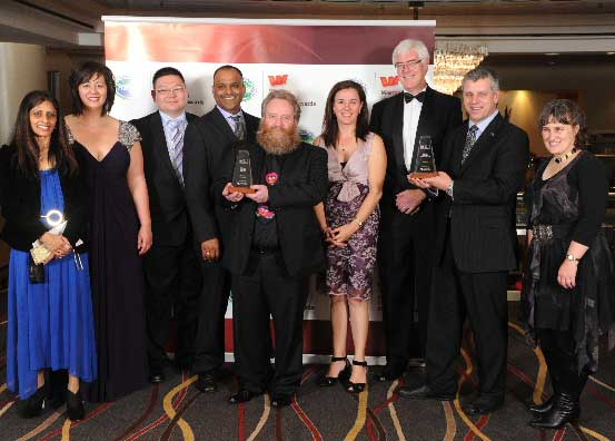 The team from Mr Minit took both Retail awards