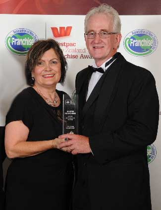 Shiela and Richard Logan, two-times winners of the Master Franchisee of the Year title