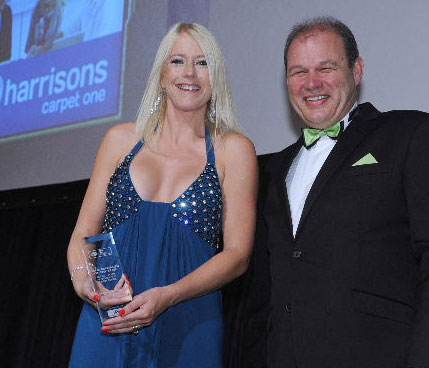 Natalie Newton, Harrisons Carpet One with sponsor Philip Morrison of Franchise Acccountants