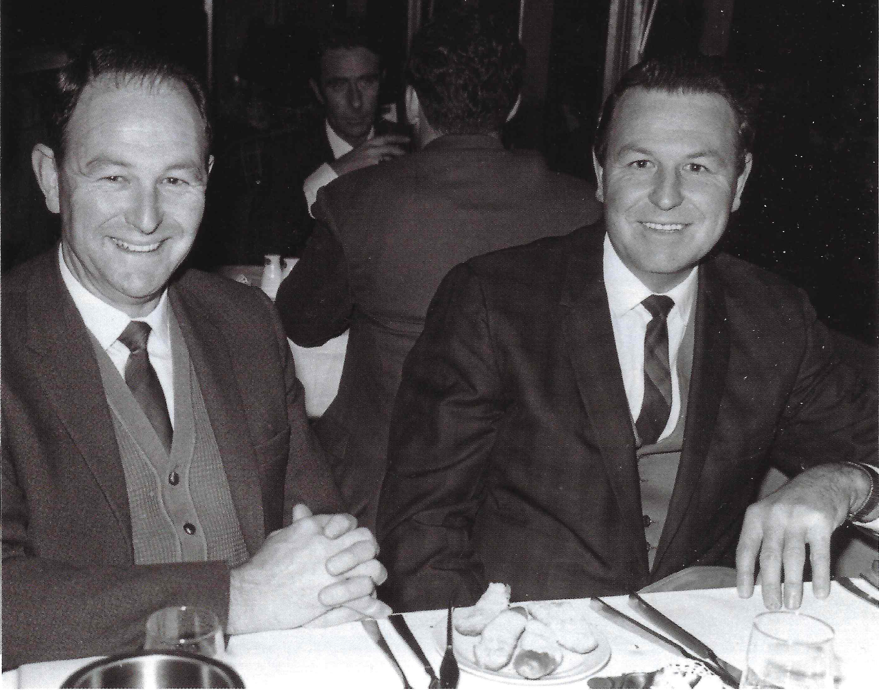 Wally and Hugh Morris, pictured in the 1960s - the men who brought McDonald's to New Zealand (photo from 'Golden Arches Under Southern Skies' 2011