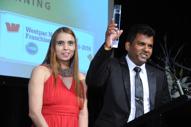 Viky and Nileshna Narayan of CrestClean - Master Franchisees of the Year