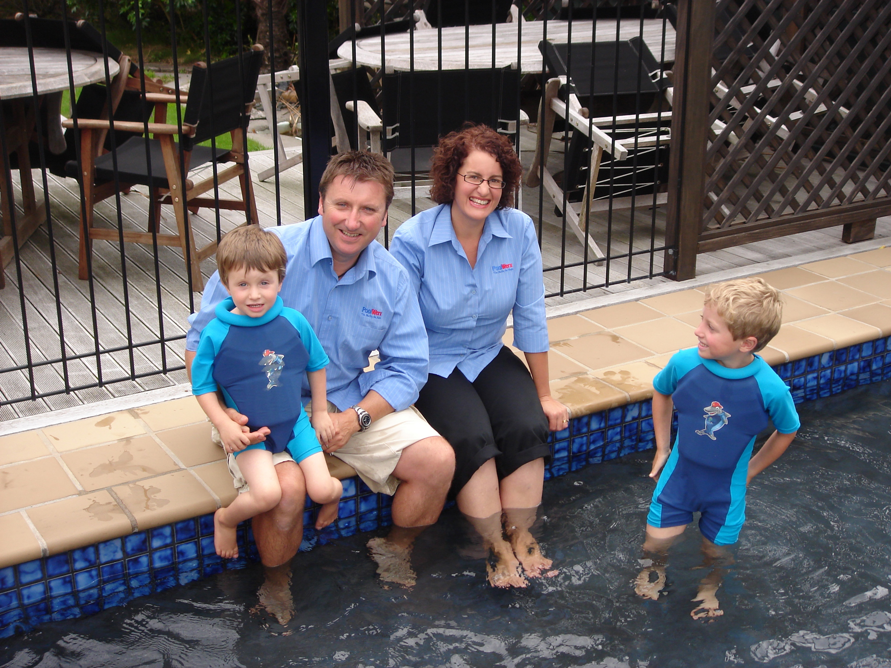 Home Services - Best Franchisee: David and Prue Kimber, Poolwerx Hamilton, with their family