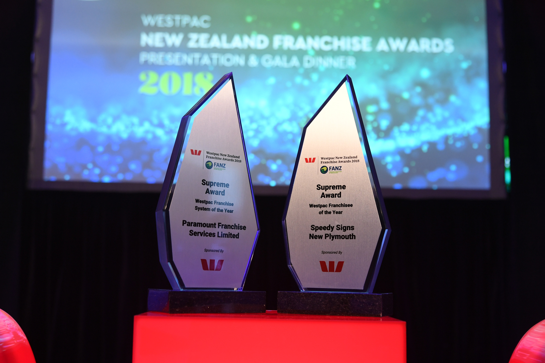 Prestigious prizes: the two Westpac Supreme Awards which recognise franchising's top performers